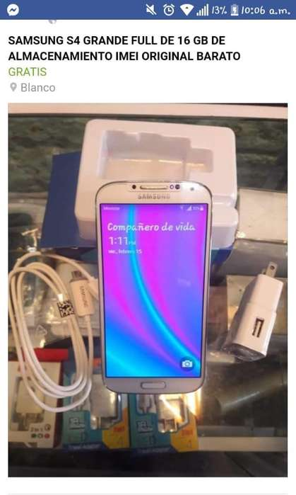 Samsung S4 Buen Estado 16 Gb Imei Origin