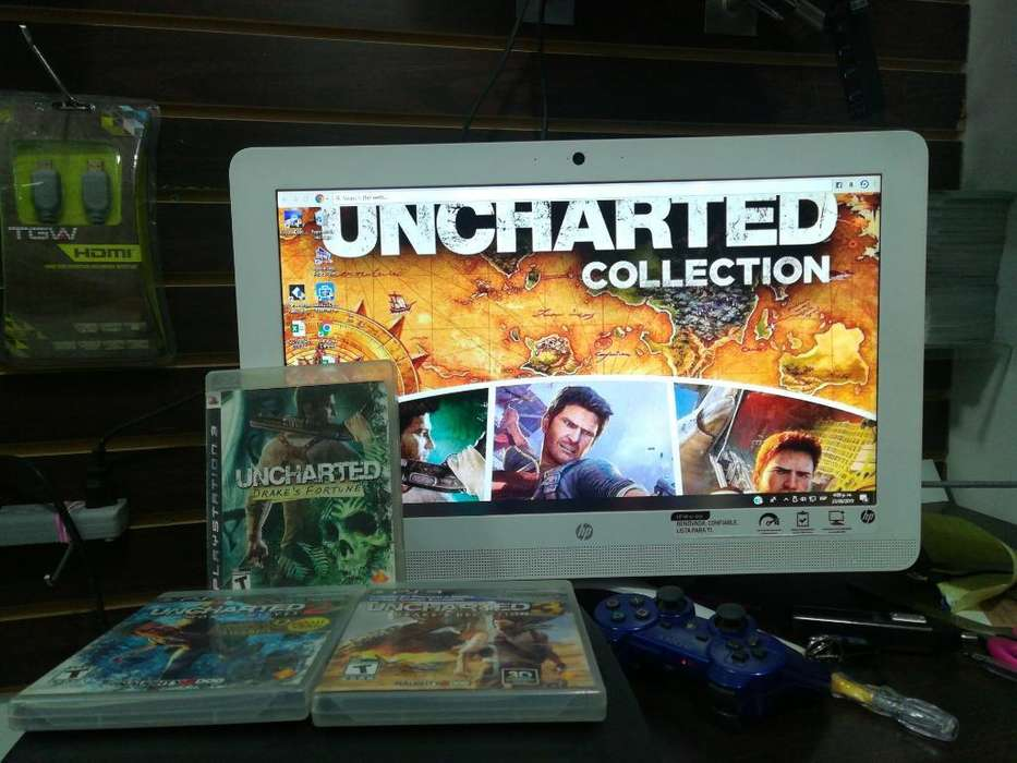 Colección de Uncharted 3 Cds sin Rayones