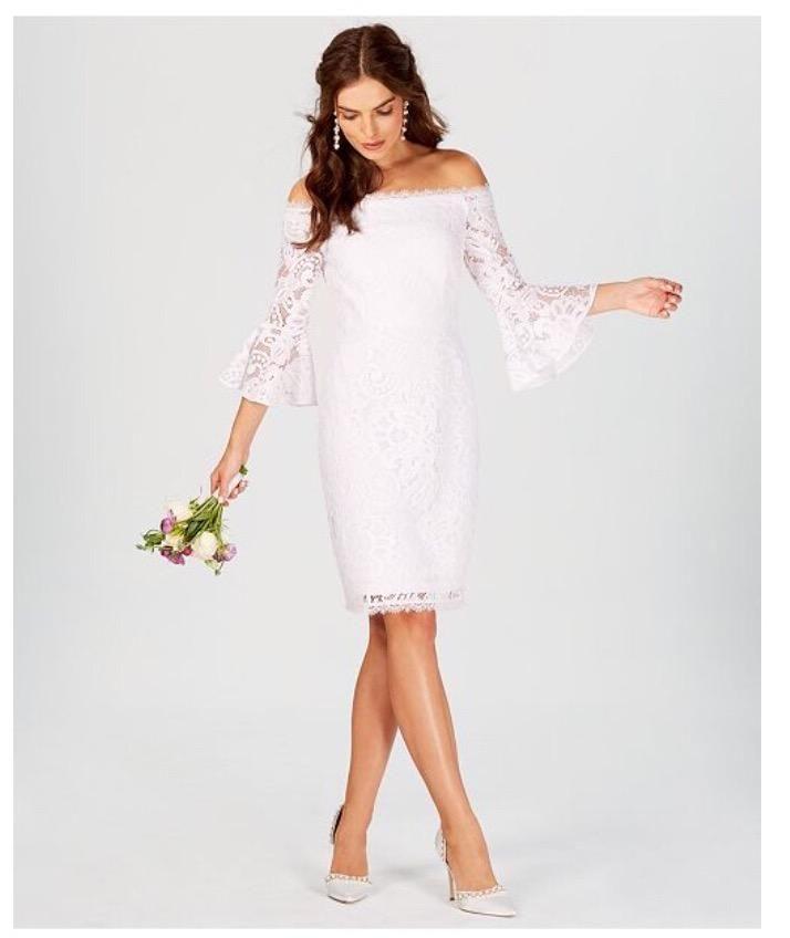 última tecnología la mejor calidad para envío directo Vestido Blanco AdriannaPappelNovia Civil - Lima