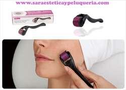 Derma Roller con 540 Agujas de Titanio Para Arrugas Acne Estrias Facial