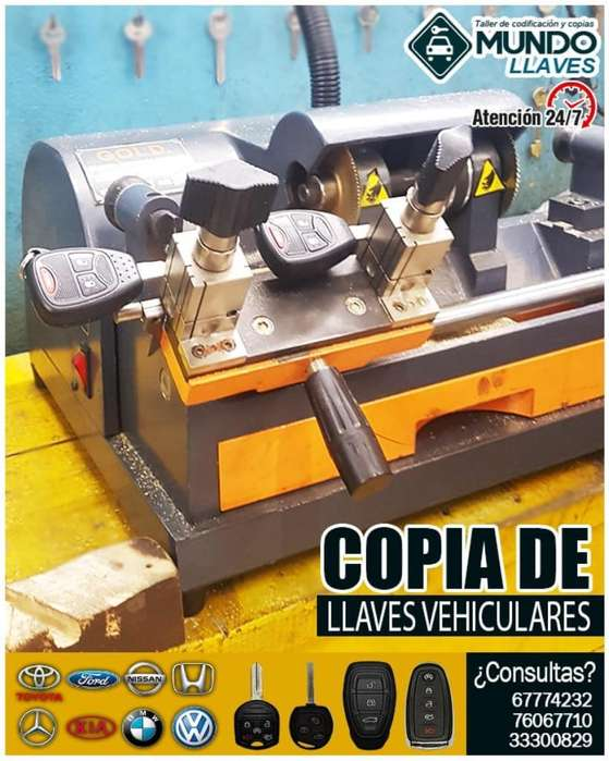Copias de Llaves con Chip en Gral.