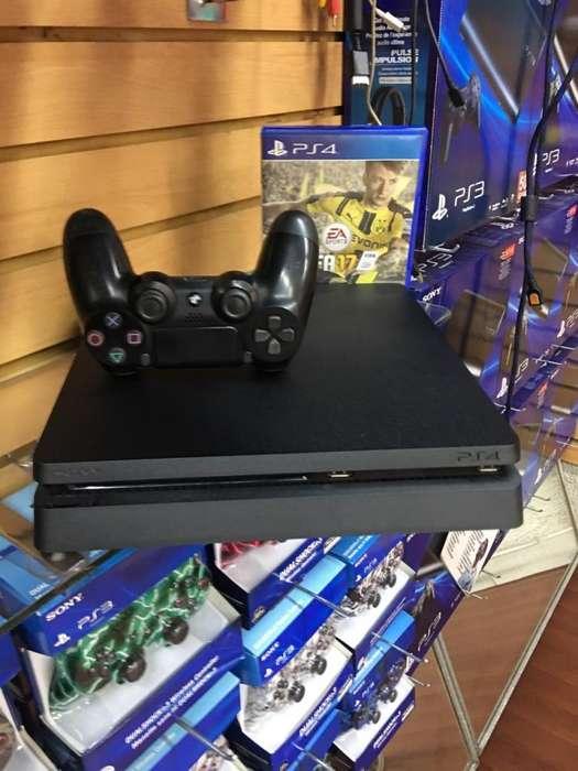 Play Station 4 PS4 SLIM como NUEVO! GARANTIA 6 MESES!