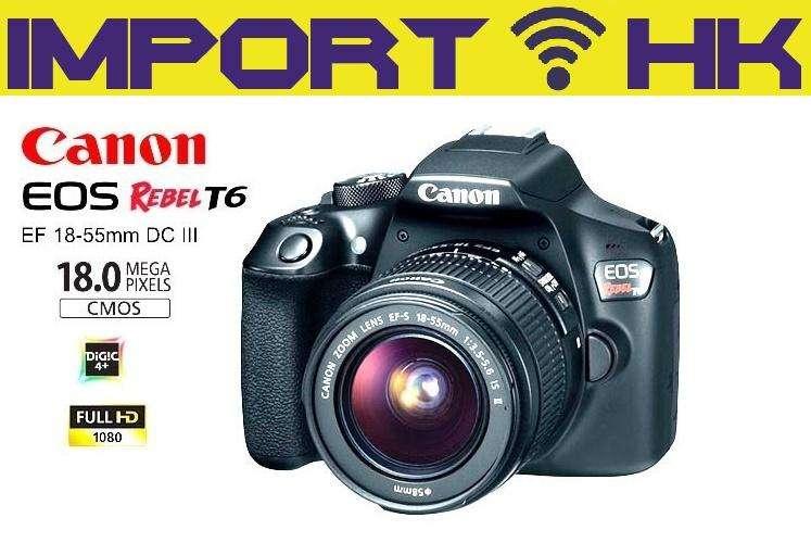 Cámara Canon Profesional Eos T6 18mp Wifi Nfc 1855mm 32gb