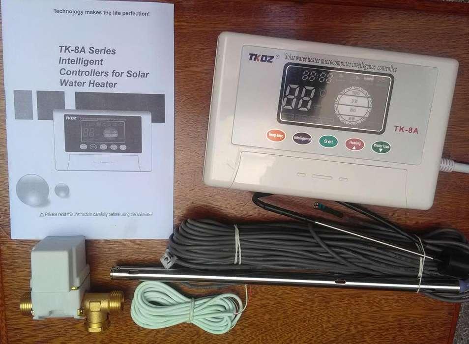 Controlador Electronico De Nivel De Agua Y Temperatura TK8A Para Termotanque Solar Accesorio