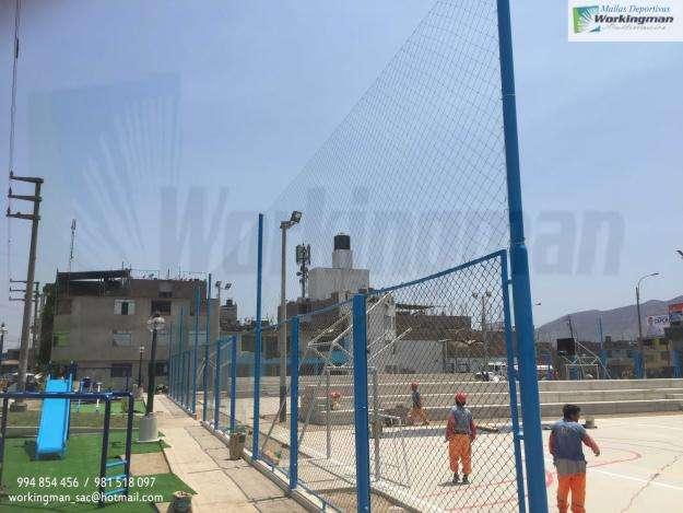 Mallas Nylon Para Cercado y Techado De Canchitas Deportivas Venta e Instalación