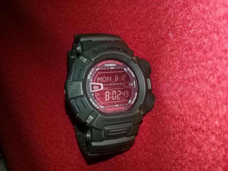 Reloj Casio G9000 mudman verde USADO