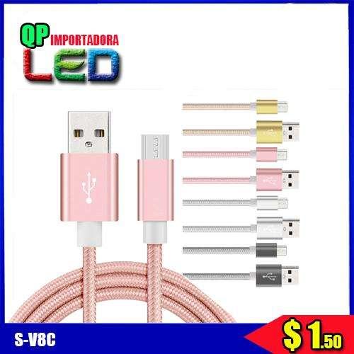 Cable Usb V8 De Carga Y Datos Samsung Nokia Sony Htc audifono
