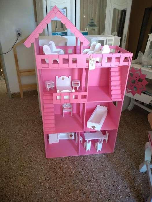 Casa Barbie Grande con Muebles