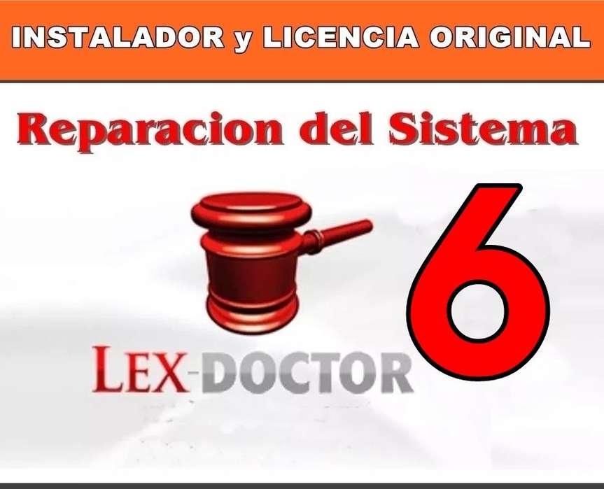 Reparacion solucion de Problemas del Lex Doctor 6 Abogados estudios juridicos CHAVEZ COMPUTACION