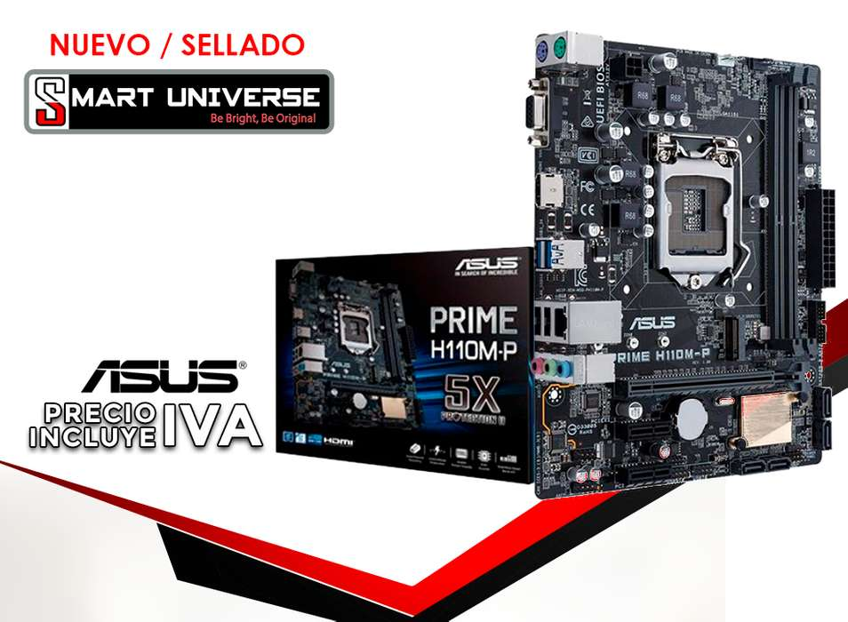 Mainboard Asus H110mp Lga 1151 Core I3, I5, I7 DDR4 <strong>hd</strong>MI VGA