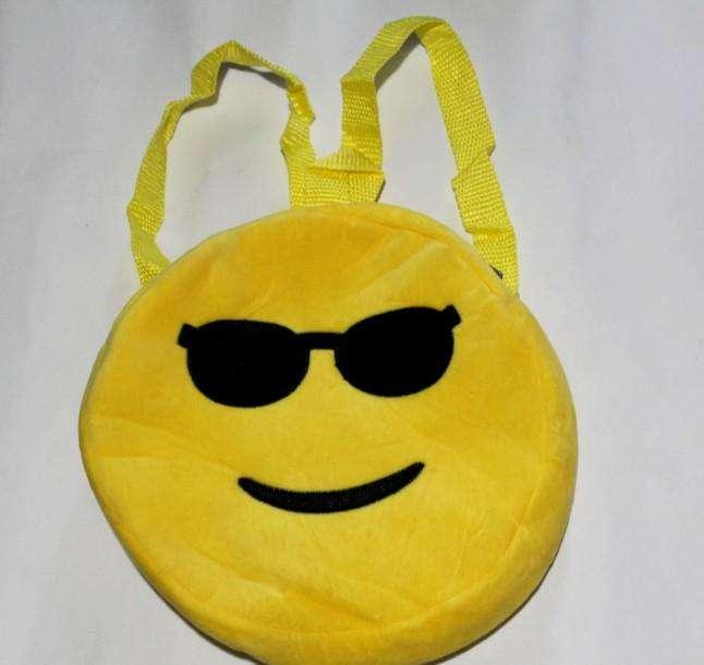 Mochila infantil Emoji, 26 cm diámetro