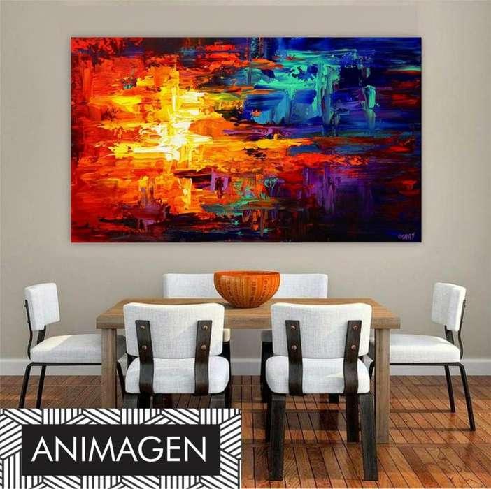 cuadro abstracto ideal para tu hogar 9863