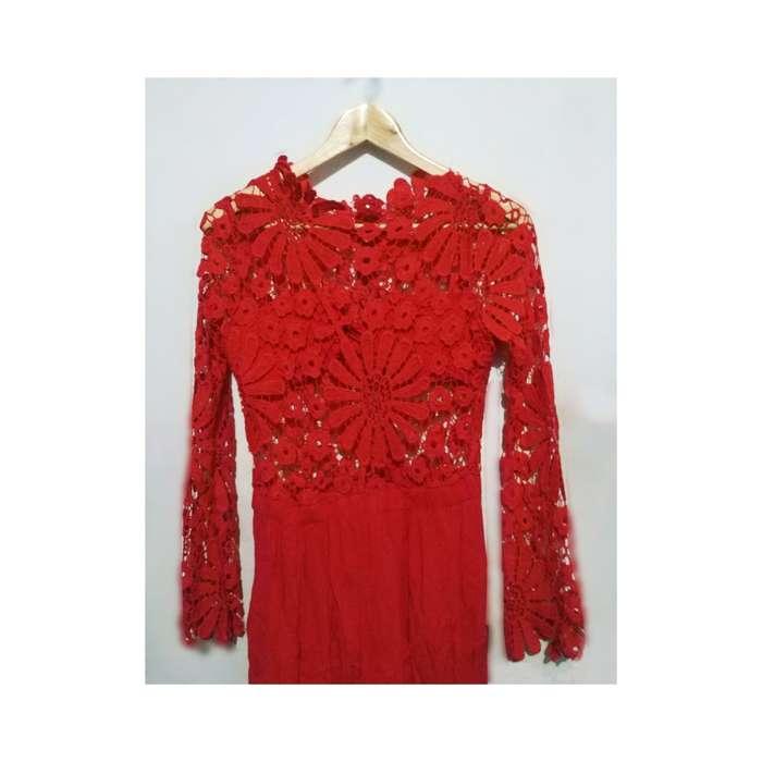 Vestido de gala rojo