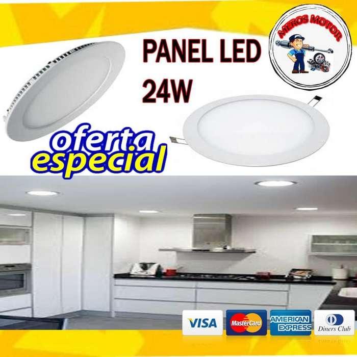 PANEL LED 18W 24W LUZ BLANCA