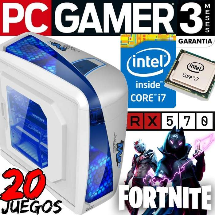 Pc Gamer Intel Core I7 Radeon Rx570 Fortnite Ultra 20 Juegos