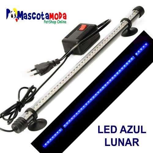 Lamparas luces led azules lunares para acuarios y peceras sumergibles
