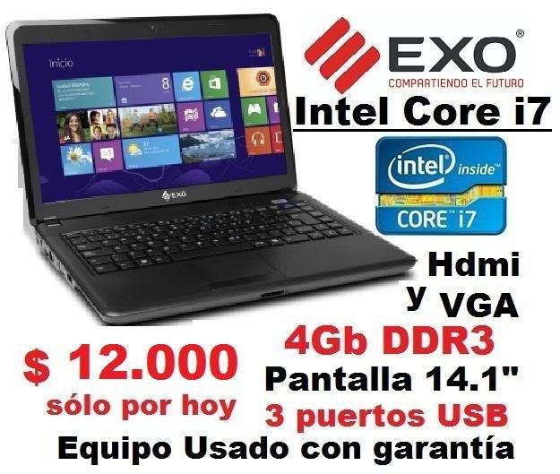 Intel Core i7 - <strong>notebook</strong> - 4Gb Ram - Pantalla 14