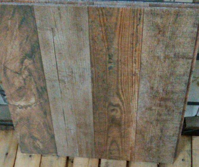 Ceramica simil madera marron 50 x 50cm, nueva, de primera, m2