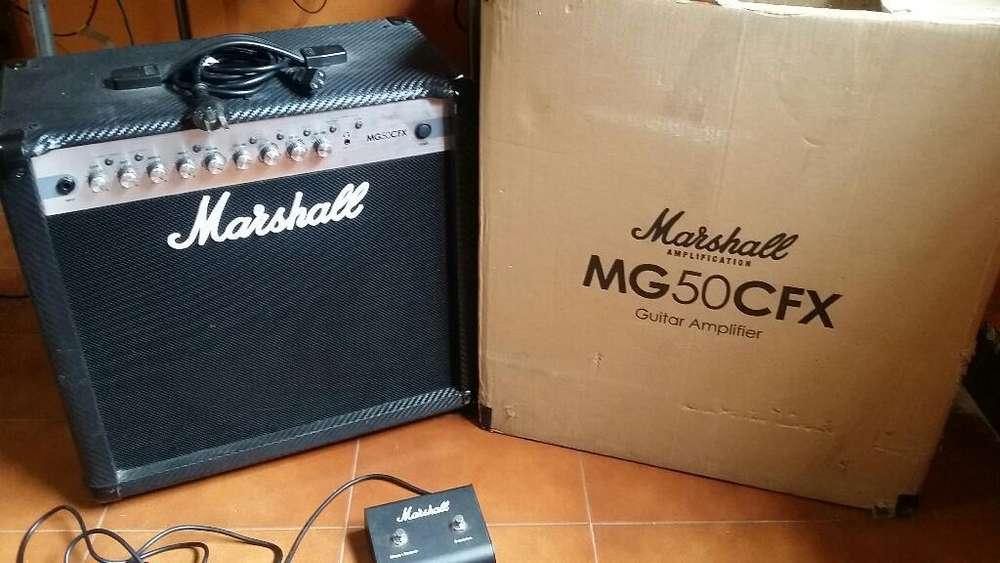 Amplificador Marshall Mg50cfx Y Pedalera