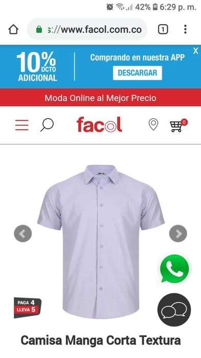 Camisa Manga Corta Textura Facol