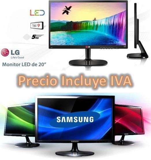 Monitor Lg / Samsung Led 20 Ultraslim Oferta Nuevos PRECIO INCLUYE IVA