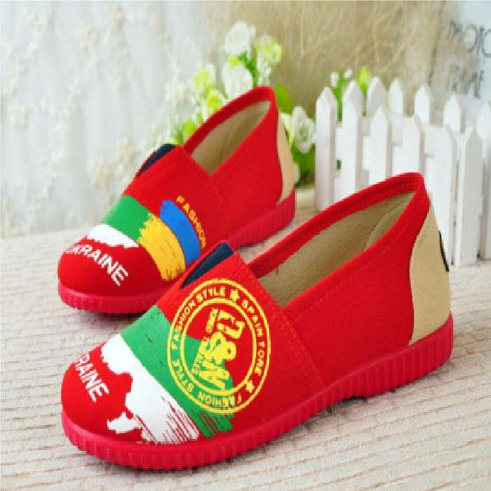 Alpargatas Boweipeiqi Ucranie Color Rojo Con Envio Gratuito