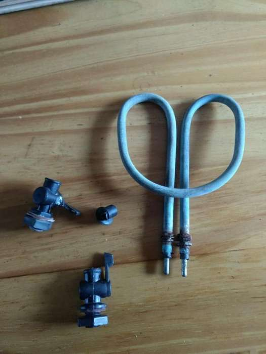 resistencia y llave de calefon electrico
