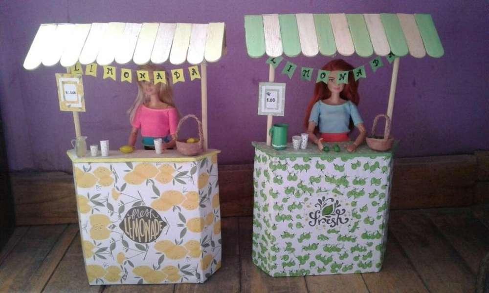 Puesto de limonada para Barbie MANUALIDAD