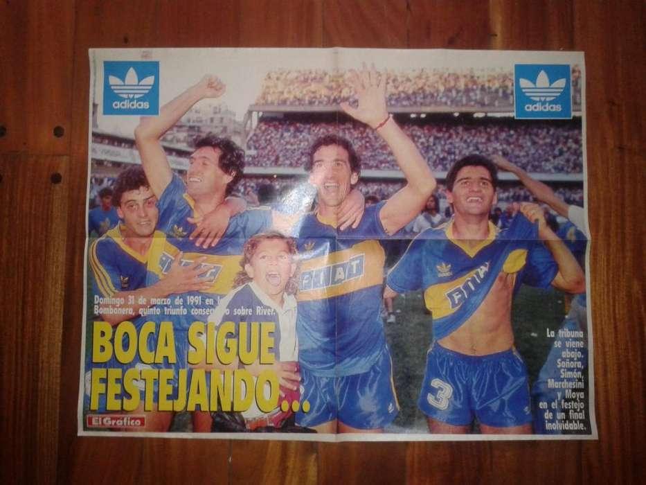 Póster Revista El Gráfico Boca Juniors 1991