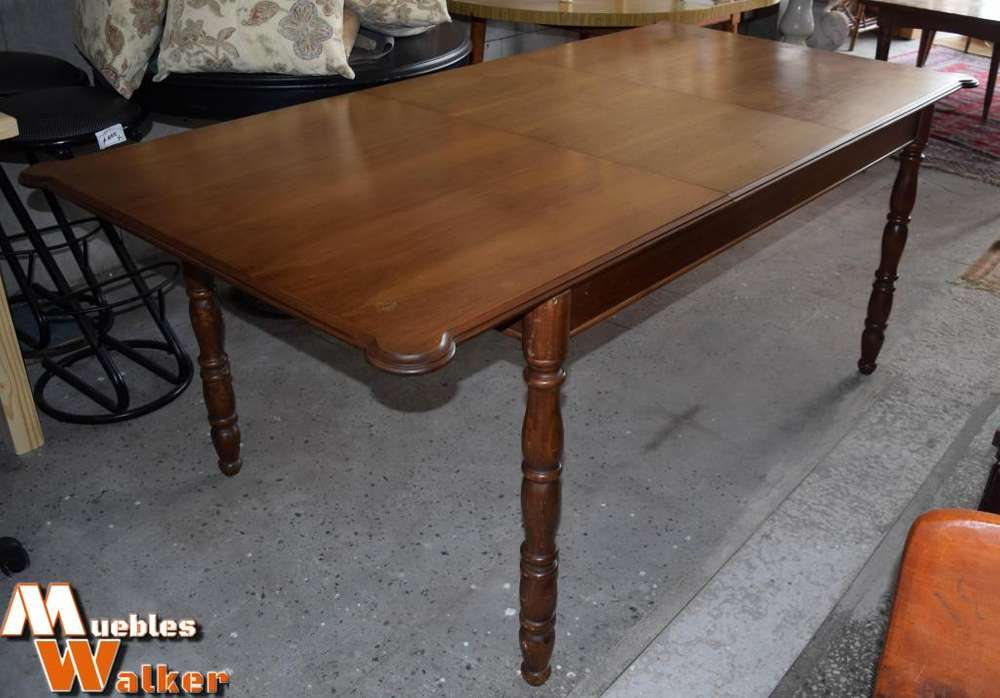 Mesa extensible antigua de roble