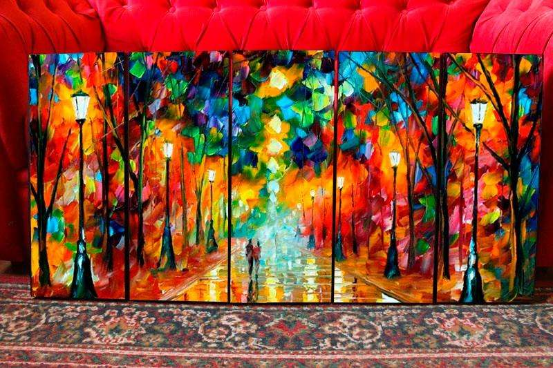 Cuadro decorativo de parque nocturno 4526