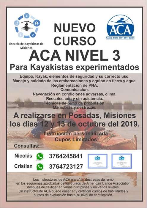 Curso de Kayakismo - Asociacion Americana de Canoas ACA - Nivel 3