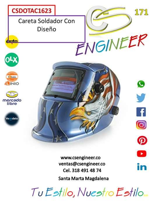 CS ENGINEER - Careta Soldador Con Diseño