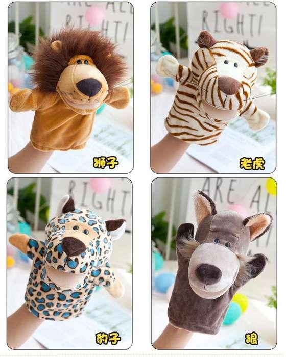 Animal de peluche marionetas titeres de mano regalo para niños