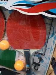 Juego completo de Raquetas, Parales, Malla y Bolas Ping pong