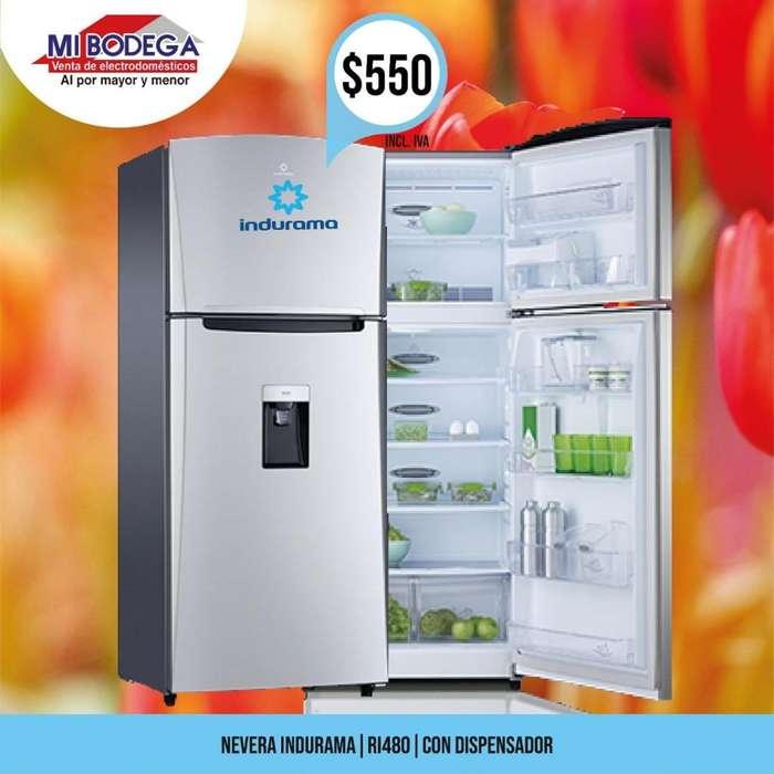 Refrigeradora Indurama RI480 con dispensador de 370 litros