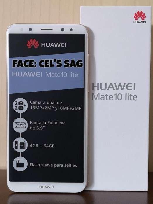 HUAWEI MATE 10 LITE NUEVO A ESTRENAR 64GB. ACEPTO CELULAR Y EFECTIVO