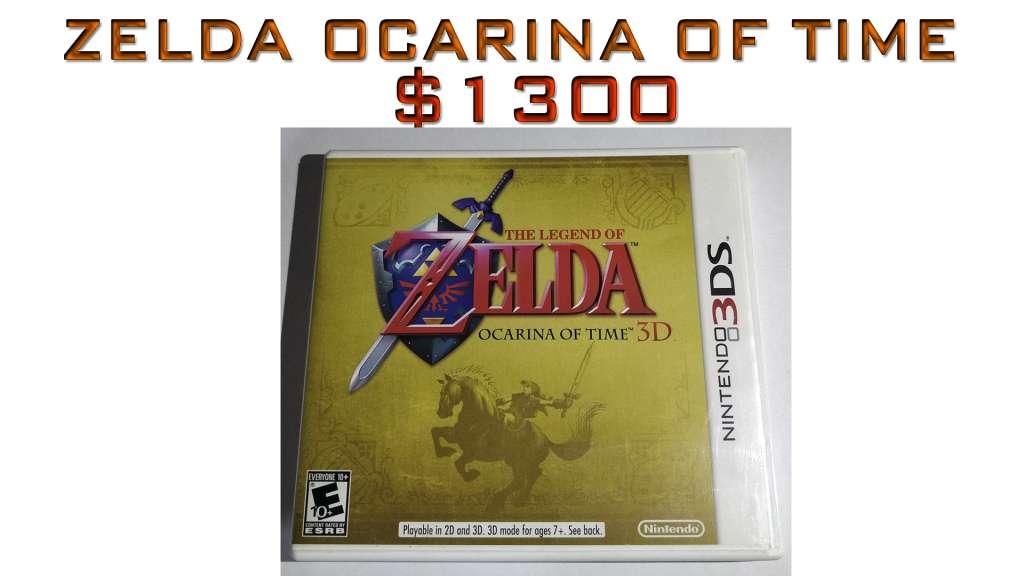 Zelda Ocarina Of TIme Nintendo 3DS en Perfecto Estado, Todos con Caja y Manuales. Como nuevos!