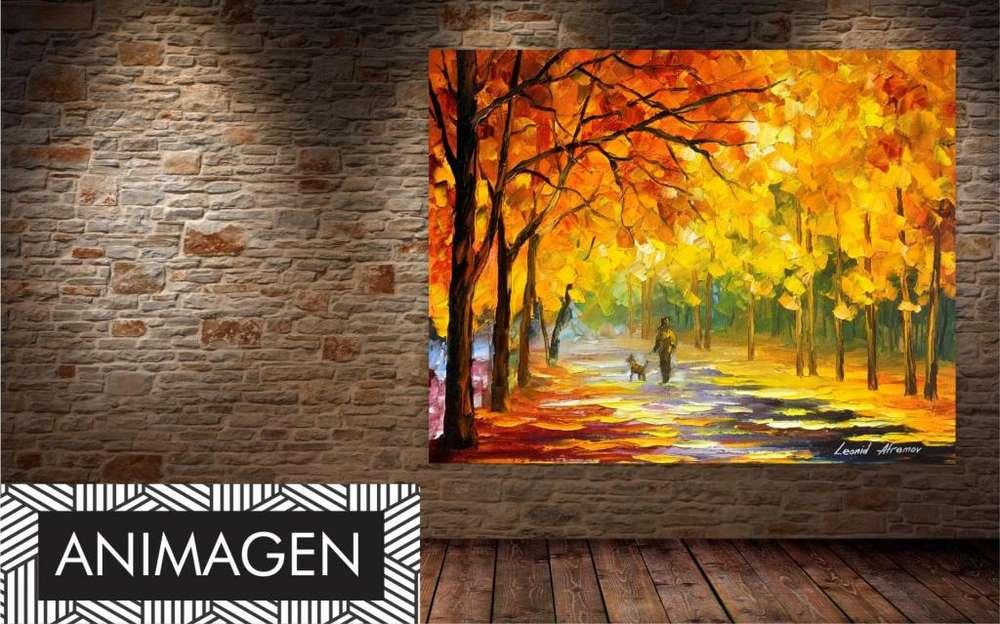 Cuadro decorativo de parque otoño 4186