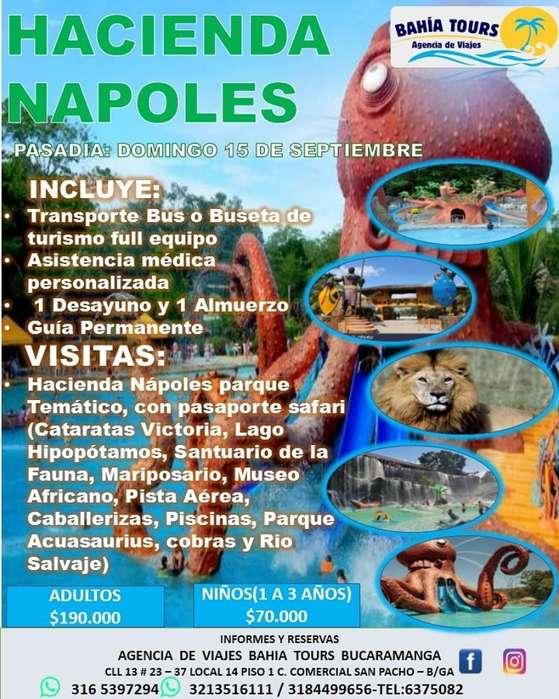 Tour Pasadia Hacienda Napoles 15 Septiem