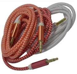 Cable auxiliar miniPlug a miniPlug 3.5 a 3.5 mm mayado 1 metro Daytona Rosario J. C. Paz 1992