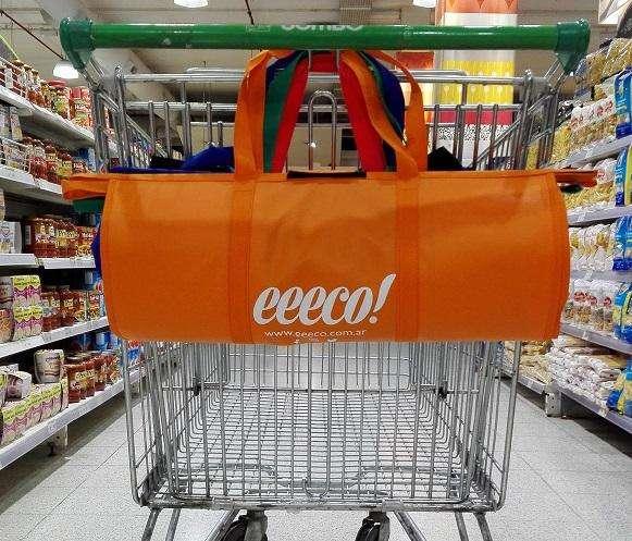 Set Cinco Bolsas Changuito Supermercado