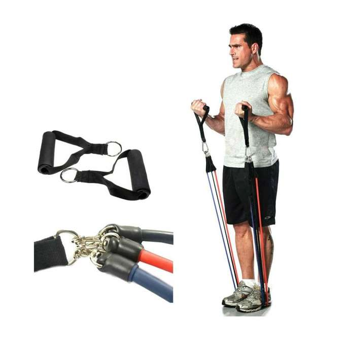 Bandas Resistencia Elásticas Tubulares Gimnasio Pilates