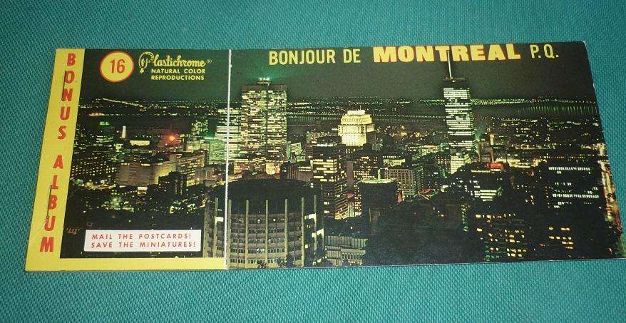 LIBRITO CON 8 POSTALES TROQUELADAS SOUVENIR DE MONTREAL CANADA 1967