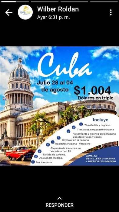 Cuba : 28 de Julio al 4 de agosto-2019- tel 3152251840