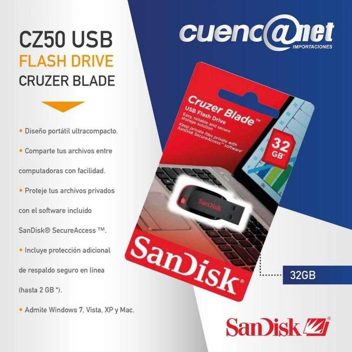 Flash Memory Cruzer Blade Cz50 32gb Sandisk