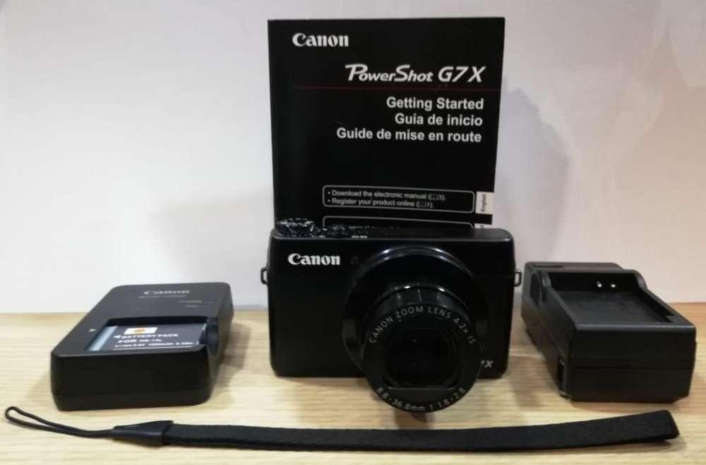 Camara Canon PowerShot G7 X incluye Tripoide y 2 baterías producto de segunda.