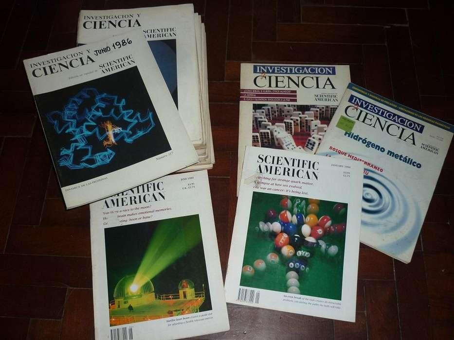 LOTE DE 20 REVISTAS INVESTIGACION Y CIENCIA . SCIENTIFIC AMERICAN AÑOS 19772000