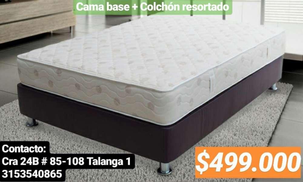 Colchón Y <strong>cama</strong> Base Remate