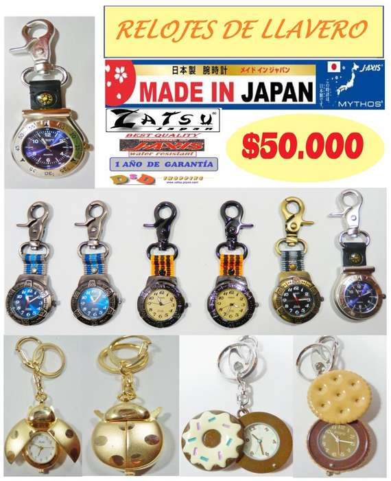 Zatsu Japan Relojes de llavero JAxis Cuarzo Japan Mov.